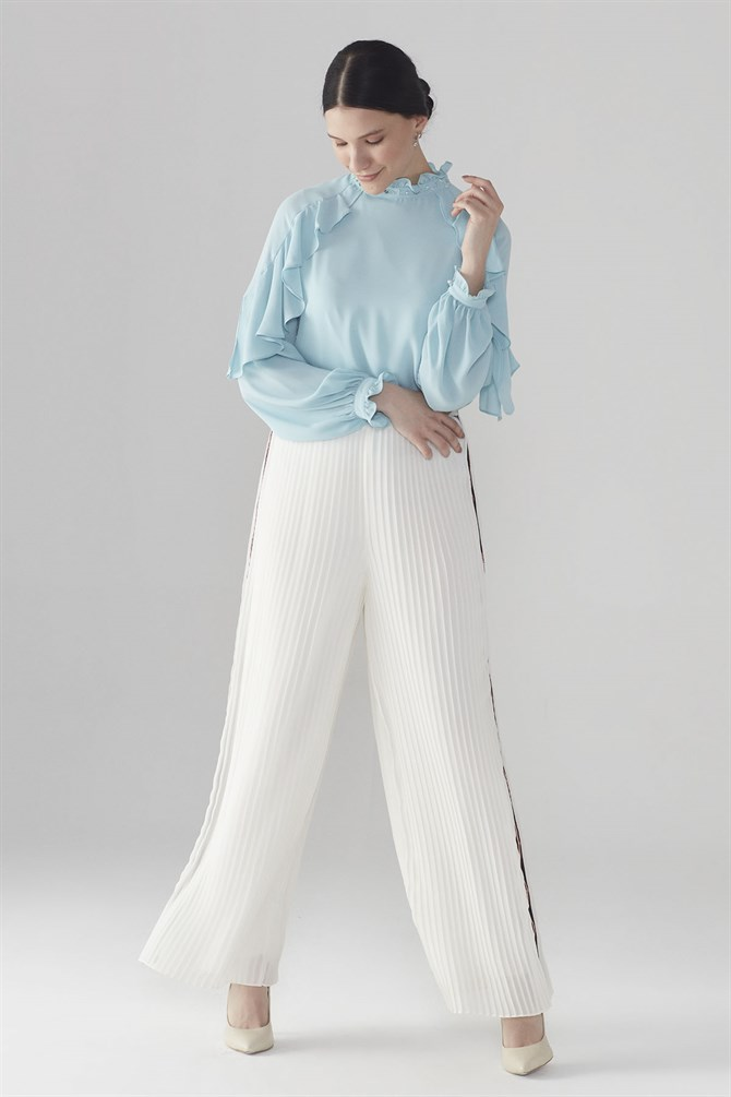 Zühre Plentiful Cut Pants Ecru P-0064