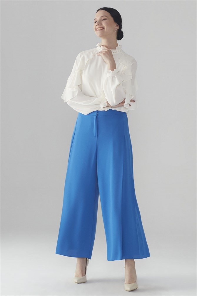 Zühre Plentiful Cut Pants Saxe P-0052