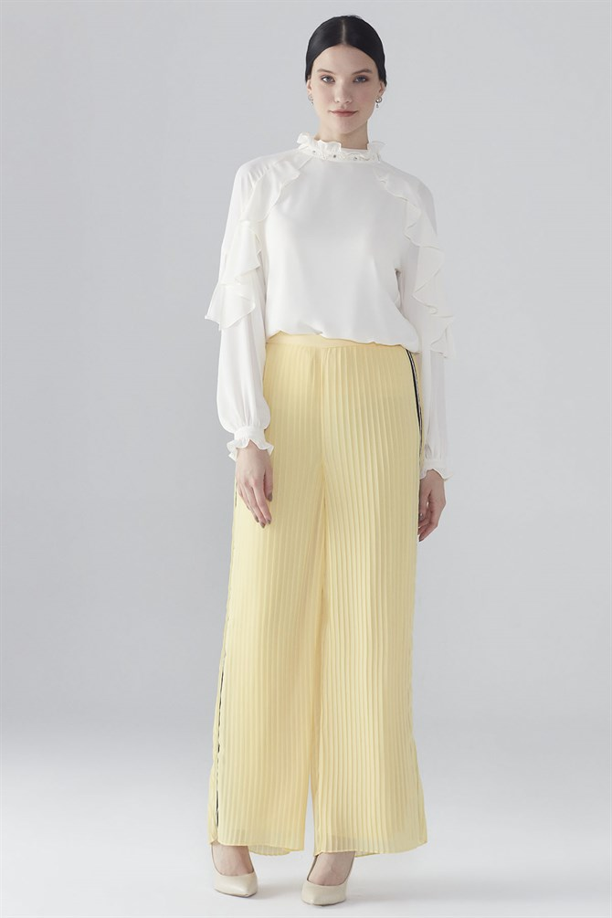 Zühre Plentiful Cut Pants Yellow P-0064