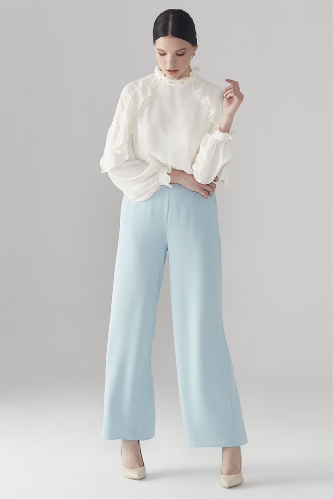 Zühre Wide Trotter Pants Blue P-0013