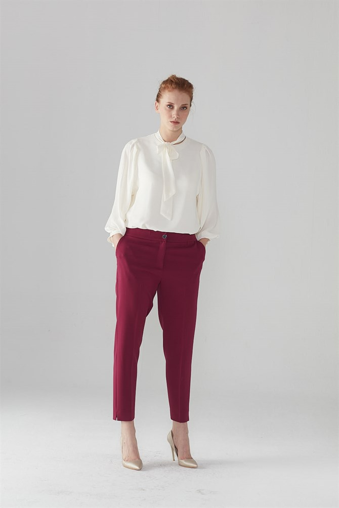 Zühre Pants Plum Color P-0024